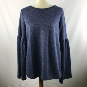 Lucky Brand Bell Sleeves Sweater Blouse Size Med